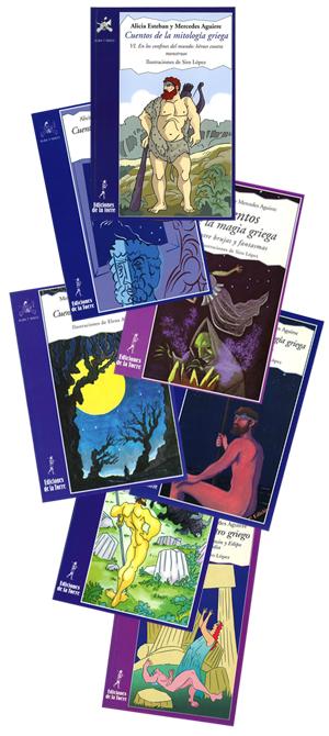 Book covers from series: Cuentos de la mitología griega