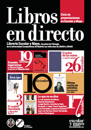 """Presentación """"Libros en directo"""" en la Facultad de Filología, Universidad Complutense"""
